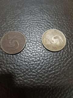Sg 5 cents 1977 & 1979