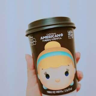 🚚 韓國-tusm杯 美式咖啡 迪士尼 韓國超商(內含一隻玩偶磁鐵)