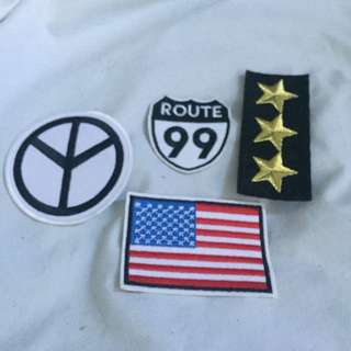 Americana Iron on patch set