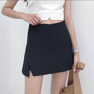 BLACK skirt with safety shorts