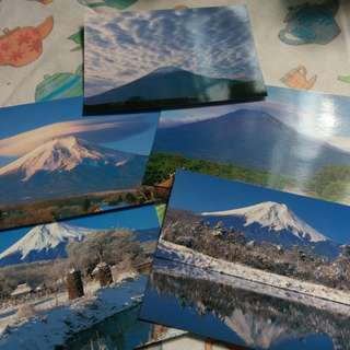 富士山 忍野八海 名信片