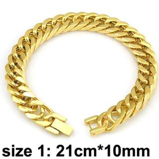 High Quality 316L stainless steel Gold Color bracelet.