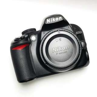 Nikon D3100 (Body) + Lens + 8GB memory card + Camera Bag