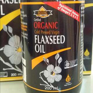 organic有機 Flaxseed Oil ,fold Pressed Virgin