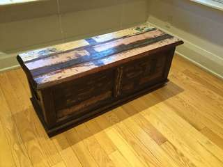Barn wood bench with storage $350
