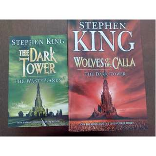 Stephen King Books - The Dark Tower - The Waste Lands & Wolves of the Calla