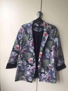 Topshop Floral Jacket