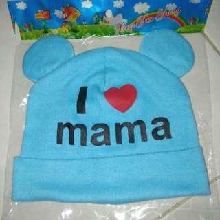 New I LOVE MAMA Newborn Baby Boy/Girl Hat