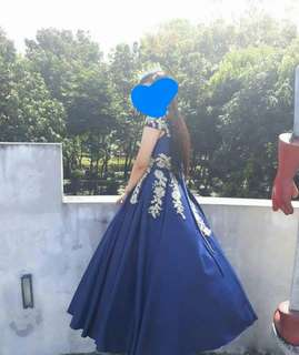 Elegant Navy Blue Gown for Rent