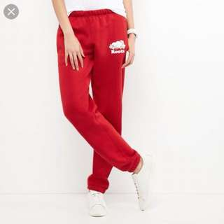 Red Roots track pants