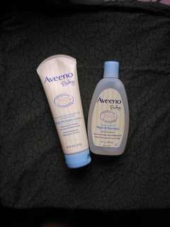 Aveeno baby wash & shampoo and lotion