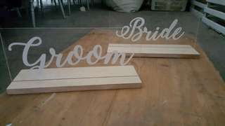 Rental : Bride & Groom's board