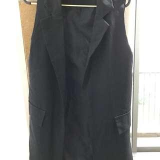 Black long vest