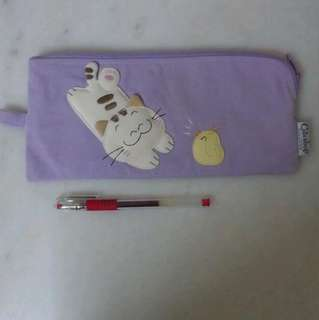 *bn* purple Pencil Case cat pencil case