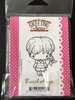 TGF Twirl Anya Premounted On cling foam rubber stamps