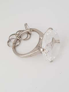 *bn* diamond ring key chain key ring key holder