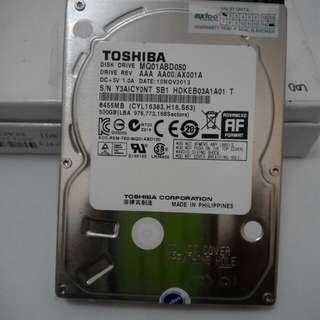 Hardisk Thoshiba 500Gb