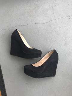 Black RUBI black wedges heels