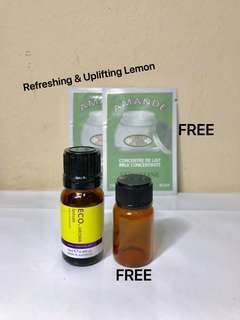 ECO. AROMA LEMON Essential Oils  of PHARMACEUTICAL GRADE. 100% PURE ESSENTIAL OIL. 10ML.  Brand New.