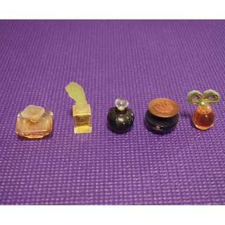 Reduced   Miniature Perfume Bottles with perfume