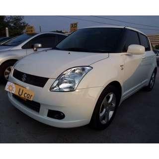 新竹中古車 2006年 1.5 白色 SWIFT 實跑16.3萬公里 ABS 雙安 電動收摺後照鏡 霧燈 鋁圈 倒車雷達