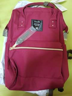 Authentic Anello Mini Bag (Red) new and unused polyester canvas bag