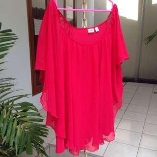 Cato Original Red Blouse / Atasan / Top / Baju Big Size / Bigsize