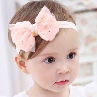 Baby Girl Kids Accessories - Lace Ribbon Hairband Headband