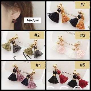 Mini Korean Tassel Earrings