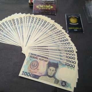 Uang kuno 1 rb Sisingamangaraja unc