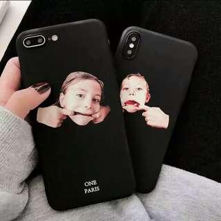 Iphone6s/7+/8搞怪人臉手機軟殼
