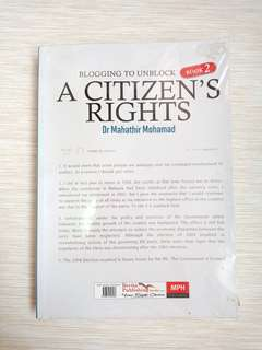 A Citizen's Right hy Dr Mahathir Mohamad