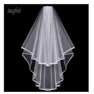 Short 2-Layer Tulle Bridal Veil - Item No. LB-0020