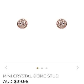 Mimco rose crystal earrings