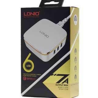 旅行唔洗拎拖板 快速充電器 6 PORT USB Hubs Quick Charger 2.0 USB LDNIO A6704