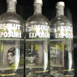 Liquor Absolut Exposure - set of 3