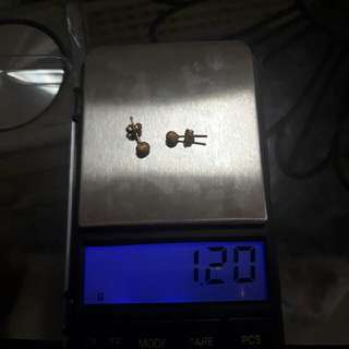 saudi gold,18k,stud earrings