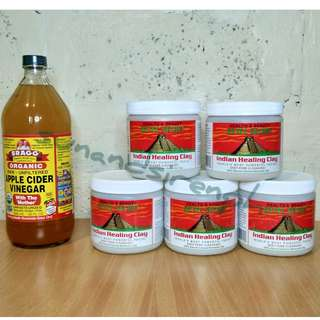 Aztec Secret Indian Healing Clay and Apple Cider Bundle