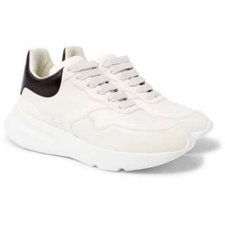 ALEXANDER MCQUEEN Exaggerated-Sole Leather Sneakers