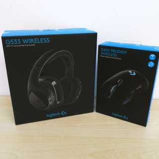(Brand New) Logitech G533 Wireless DTS 7.1 Surround Gaming Headset + G403 Prodigy Wireless Gaming Mouse + 2 Years Local Warranty