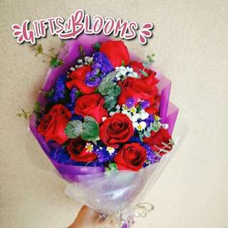 Fresh Flower Bouquet Surprise for Special Anniversary Birthday Gift V7 - FUYTA