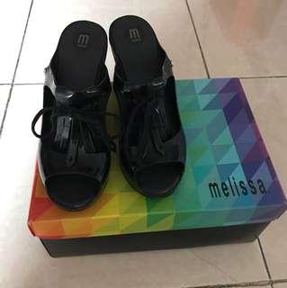 Melissa black wedges