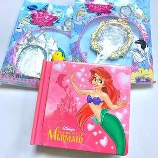 迪士尼 Disney Ariel 小魚仙 美人魚 書型糖盒 公主鏡