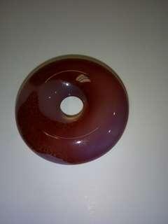 天然紫玉髓平安扣。4Cm