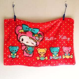 Uji 雪狐絨 枕頭袋 pillowcase Hello Kitty