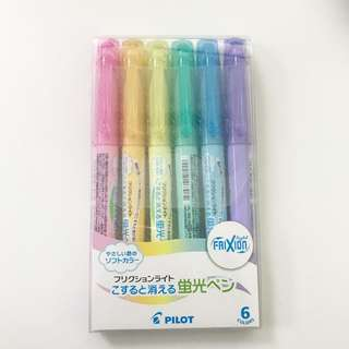 Pilot Frixion Pastel Highlighter (Set of 6)