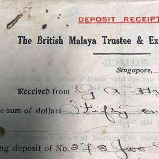 1937 JOO CHlAIT ROAD old and rare paper document ,good for display 。