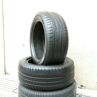 Used 245/50 R18 Dunlop- Run Flat tyre (2pcs) 🙋‍♂️