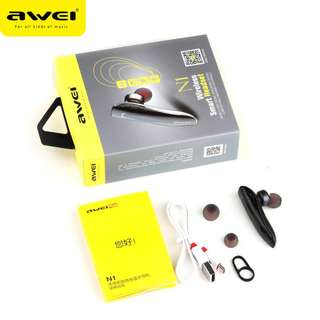 Compact Crystal Clear Sound Wireless Earpiece Awei N1 High Quality Design