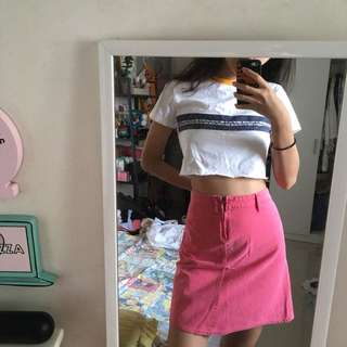 DKNY//JEANS dark pink pencil skirt